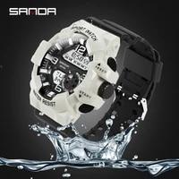 sanda digital watch men fashion sport watch popular luminous waterproof running led military electronic men wrist watch relogio