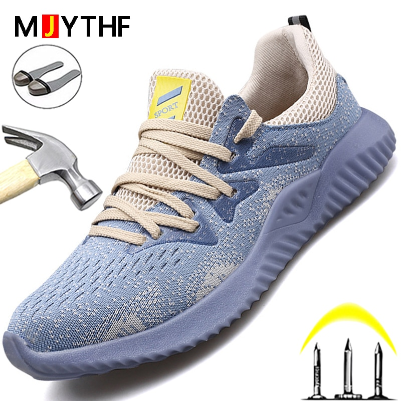 Indestructible Safety Shoes Men Work Shoes Steel Toe Cap Work Sneakers Male Industrial Shoes Anti-Puncture Protective Shoes 48