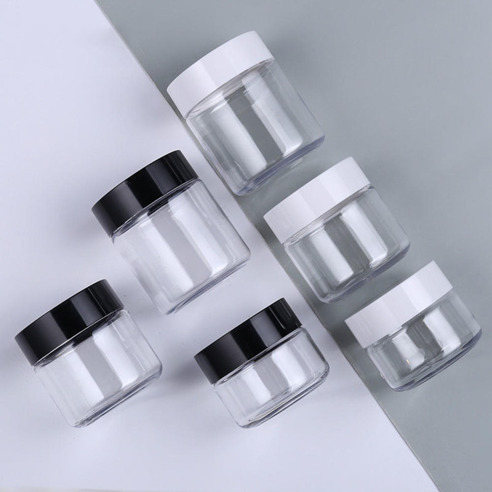 refillable bottles travel face cream lotion cosmetic container plastic empty makeup container jar pot 1Pcs  Cosmetic Jar 60/100/120ML Small Empty Cosmetic Refillable Bottles Plastic Eyeshadow Makeup Face Cream Pot Container