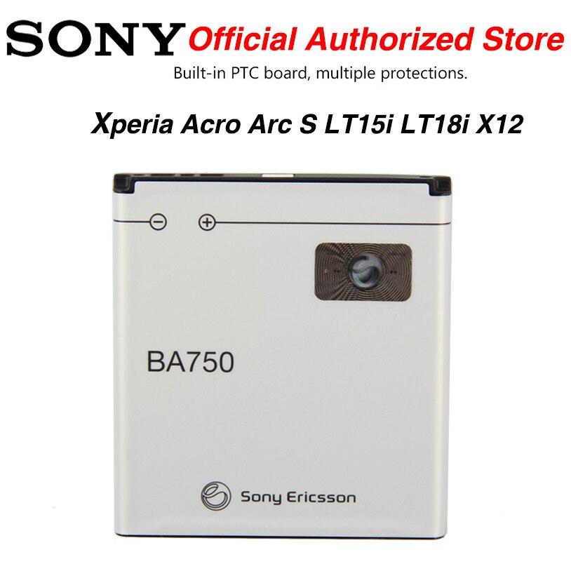 Original SONY BA750 1460mAh batería para Sony Ericsson Xperia Acro Arc S LT15i LT18i X12