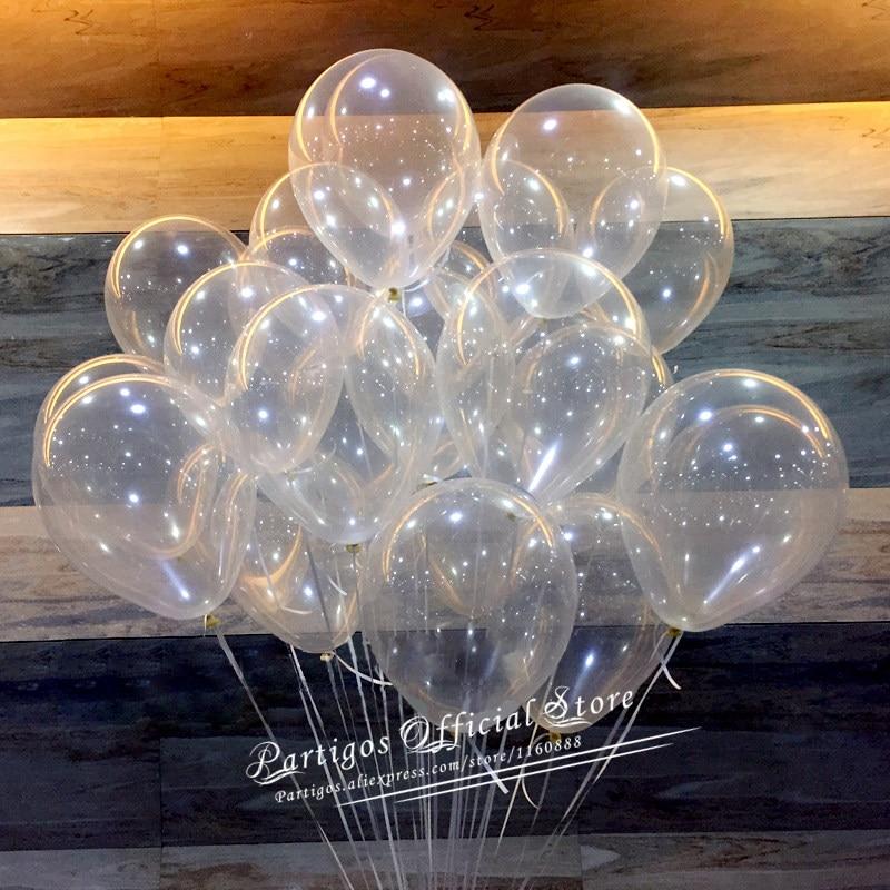 Прозрачные воздушные шары всех размеров, прозрачные шарики с латексные шары, гелий, товары для свадебной вечеринки, украшения для дня рожде...