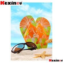 kexinzu 5d diy Diamond Painting kit Slippers sunglasses Cross stitch Diamond Embroidery 3d  DIY 5D D