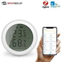Tuya ZigBee     capteur intelligent de temperature et dhumidite pour maison  avec ecran LED  fonctionne avec Google Assistant et Tuya Zigbee Hub