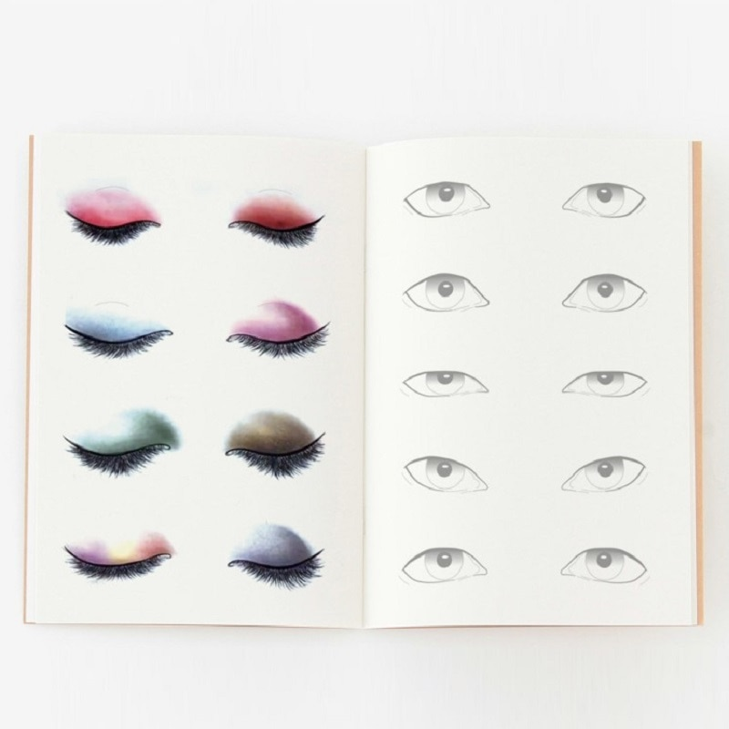 Tabla de maquillaje A4 para artistas, libro de ejercicios para estudiantes y aficionados