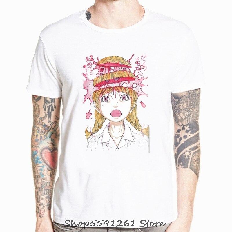Harajuku japonés Streetwear estilo urbano camisetas de manga corta Hip Hop Casual modal Junji Ito hombres Oversize Anime camisetas XS-5XL