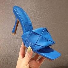 2020 marque de luxe Design diapositives femmes 9cm talons hauts Mules fétiche été sandales talons aiguilles pantoufles bal plate-forme chaussures rouges
