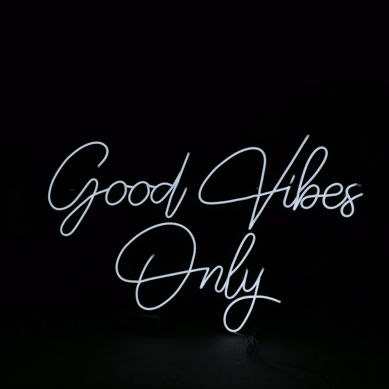 Custom Logo Led Neon Sign Light Good Vibes Only For Room Wedding Party Birthday Bedroom Name Personalized  Wall Decor enlarge