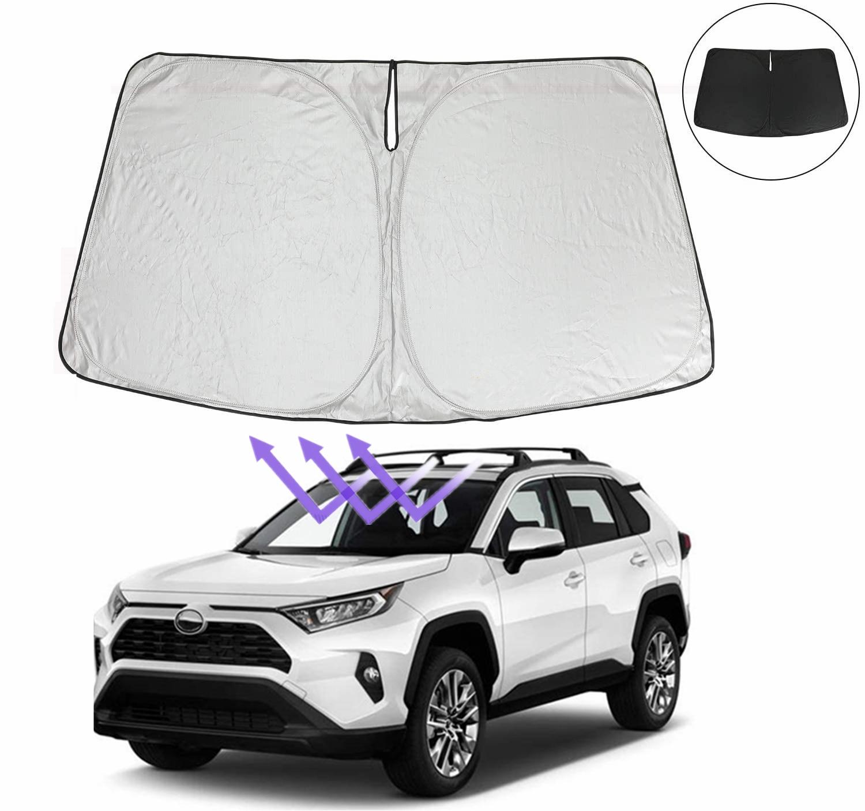 سيارة الشمس قناع الزجاج الأمامي ظلة السيارات نافذة أمامية مظلات سيارة الزجاج الأمامي قناع لتويوتا RAV4 2019 2020 2021 الملحقات