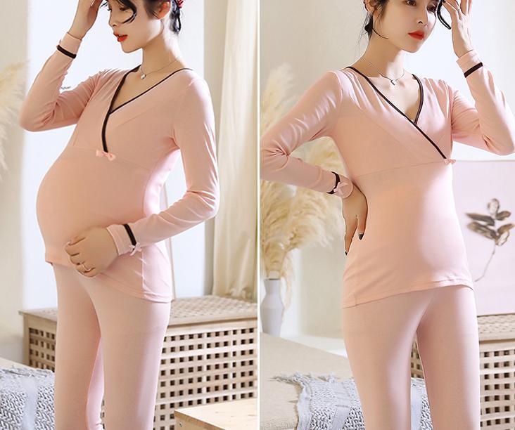 Maternity sleepwear Nightwear For Pregnant Nursing shirt Tops+pants Pajamas Pregnant Breastfeeding Sleepwear For Pregnant Women enlarge