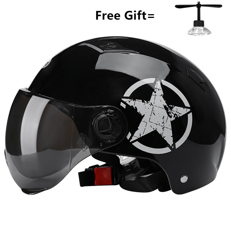 Casco de verano para moto eléctrica, de cara abierta, para montar en bicicleta, Unisex, transpirable y con protector solar, 328