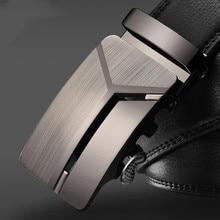 Men's Business Lengthened Belts, Fashion Men casual Automatic Buckle Minimalist Design Leather Belt Coffee Belts2021New