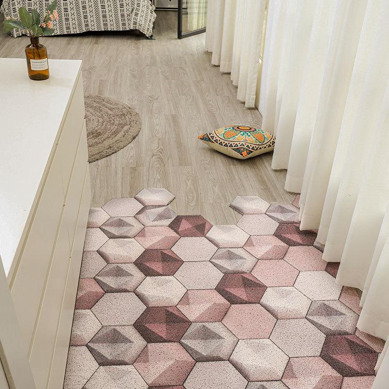 Домашний декор, напольные коврики, ковер, ПВХ, внутренний Придверный коврик, можно разрезать, входной коврик, нескользящий кухонный коврик, ...