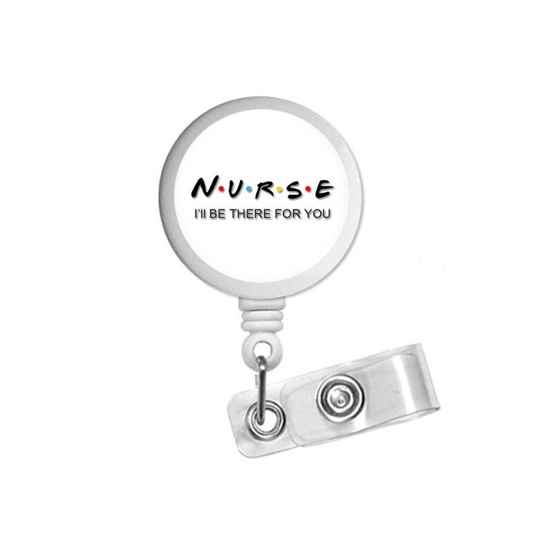 Enfermera amigos carrete de tarjeta de identificación titular Clip retráctil RT RN citar