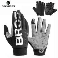 ROCKBROS Winter Sport Cycling Gloves Fleece Thermal Gloves Women Male Gloves for Below/Minus 10 Zero Anti-Water Windproof