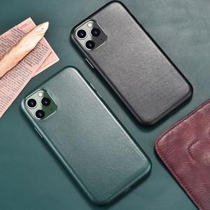HTMOTXY кожаный чехол для телефона из искусственной кожи для iphone 11 Pro Max, роскошная простая задняя крышка для iphone 11Pro 11 ProMax Pro Max, чехлы, чехол, чехо...