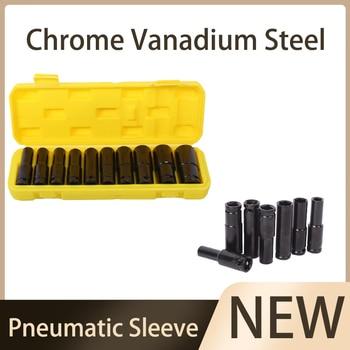 Chrome Vanadium Steel 1/2 Inch Outer Hexagonal Extension Sleeve Pneumatic Electric Impact Sleeve Light Short Jackhammer Sleeve
