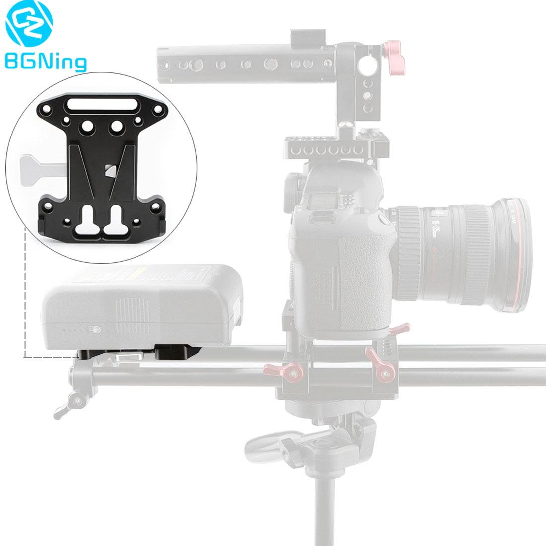 BGNing V-Lock Quick Release Battery Clamp Back Plate Mount for DJI Ronin M MX for Blackmagic URSA Mini DSLR Camera Cage Rig