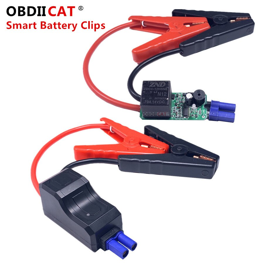 Smart Booster Cables Auto Emergency Car Battery Clamp Accessories Wire Clip Red-black Clips For Car
