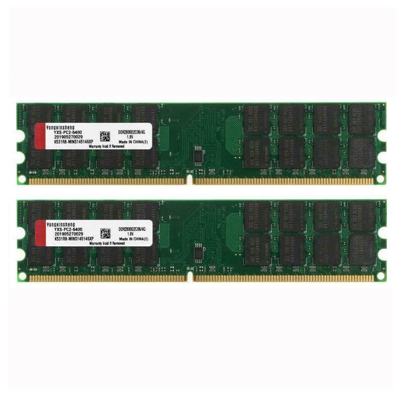 8gb kit 2x 4gb PC2 6400 DDR2 800MHZ ram 1.8v sdram da memória do desktop de 240pin amd apenas para amd não para o sistema intel RAM    -
