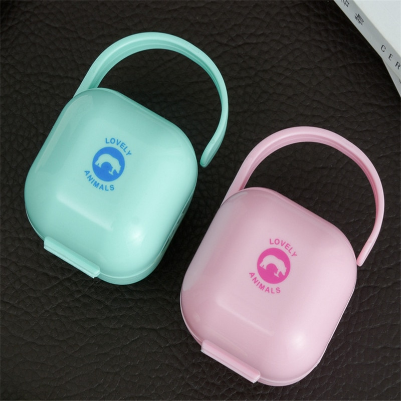 Baby Feeding Nipple Storage Box 1Pc Soild Dustproof Soother Pacifier Nipple Cradle Case Holder Travel Storage Box