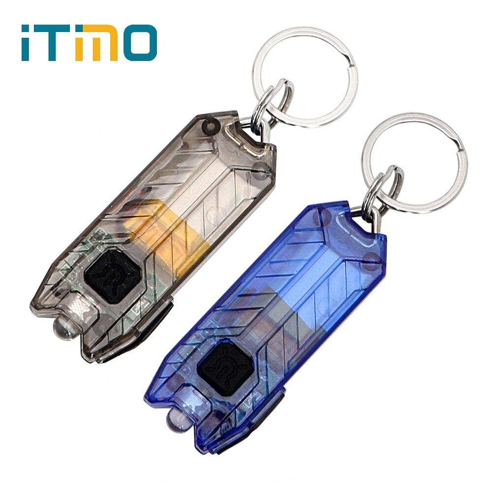 ITimo 45LM 2 режима портативный светодиодный флэш-светильник светодиодный мини-фонарь брелок флэш-светильник брелок USB перезаряжаемая трубка брелок Светильник лампа