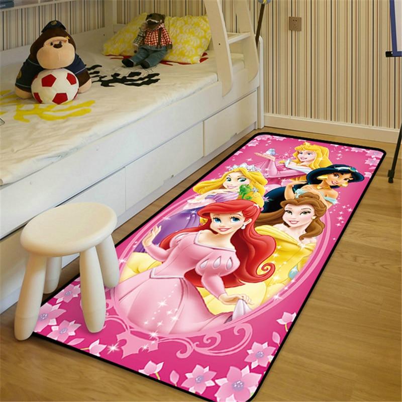 80x160cm Disney Baby Play Mat Cartoon Girl Princess Carpet Non-slip Rugs Kids Room Baby Living Room Bedroom Carpet 55x40 cm cartoon shiba inu carpet dog sleeping mat living room mat toy for bedroom