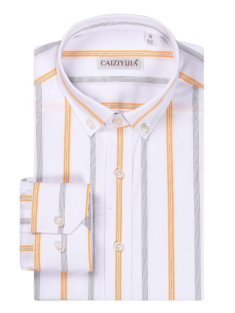 CAIZIYIJIA, gran oferta, Camisa de manga larga a rayas verticales, vestido informal, Camisa Masculina 100%, Camisa Social de negocios de algodón de talla grande