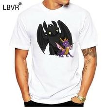 Men tshirt Spyro and Toothless Unisex T Shirt women T-Shirt tees top