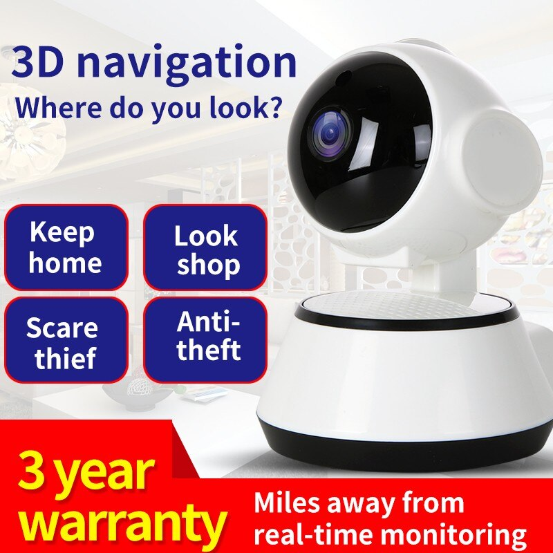 V380 كاميرا شبكة مراقبة لاسلكية مراقبة المنزل الحركة كشف الصوت كاميرا الأمن الداخلي كاميرا ويب مع ميكروفون و 2 مكبرات الصوت