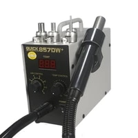 digital display electric soldering stations quick857dw hot air heat gun helical wind 580w smd rework station soldering irons