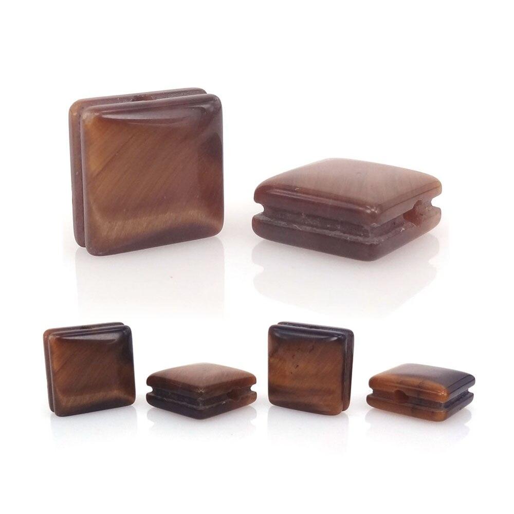 Nuevas cuentas de piedra cuadrada de ojo de tigre Natural aptas para pulsera DIY joyería de moda accesorios de cabujón de piedra semipreciosa