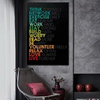 inspiration words art posters upscale abstract canvas print quote words canvas paintings wall art pictures for home wall decor