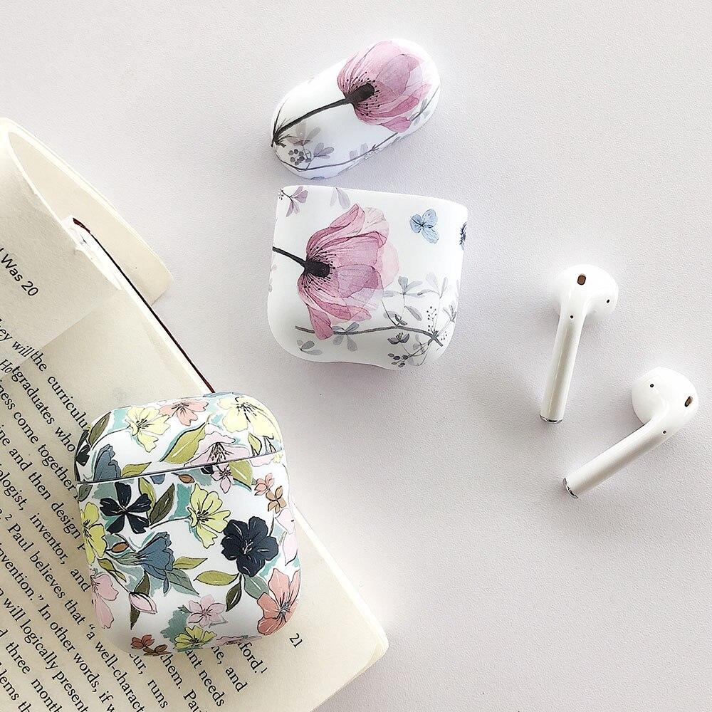 Чехол для наушников Art Flower для Apple Airpods 2 1 Air Pods, чехол s, милый светящийся винтажный цветочный чехол для AirPod Pro, защитный чехол