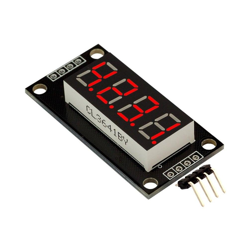 0.36 polegada TM1637 4-digit Display LED Digital Tubo Módulo 7-Segmento Digital Tubo Serial Board Driver para arduino Kits DIY