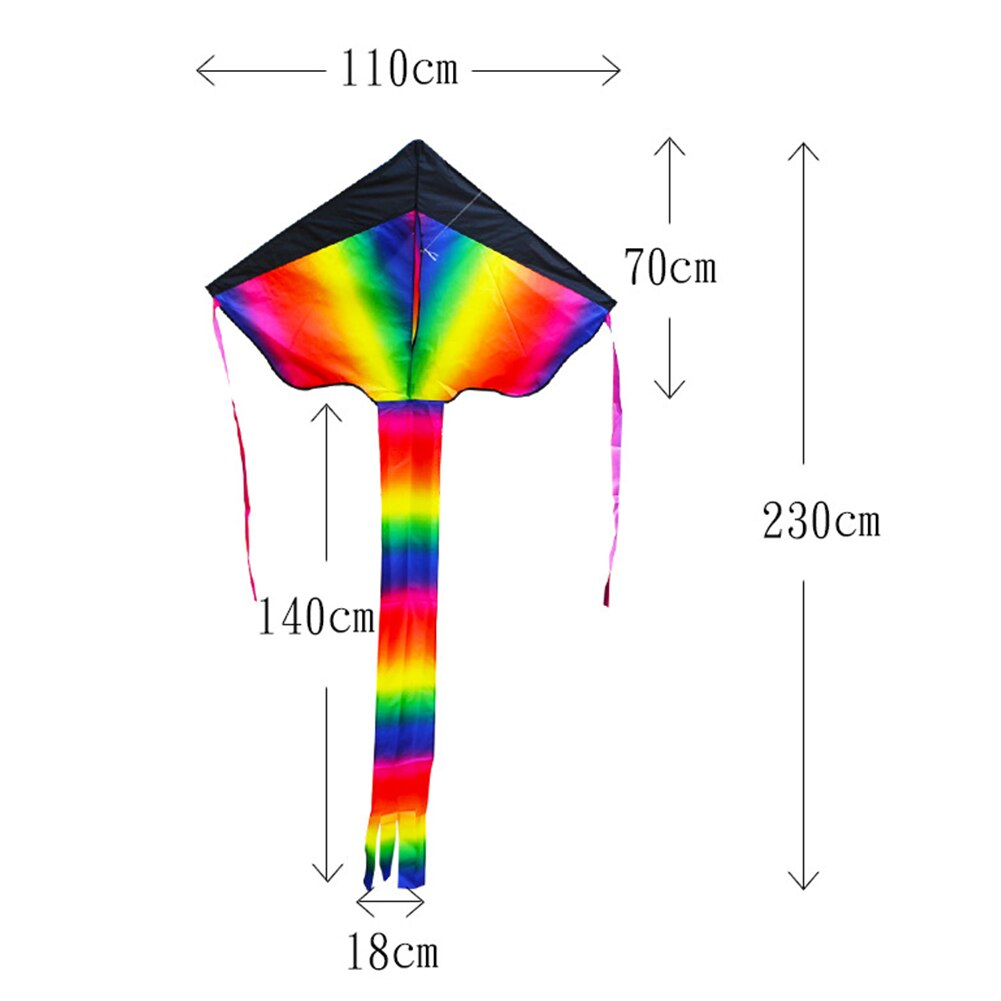 Long Tail Nylon Large Rainbow Kite 140cm Surf Flying Kid For Children Outdoor Game Activity Durable Gift Toy For Children  - buy with discount