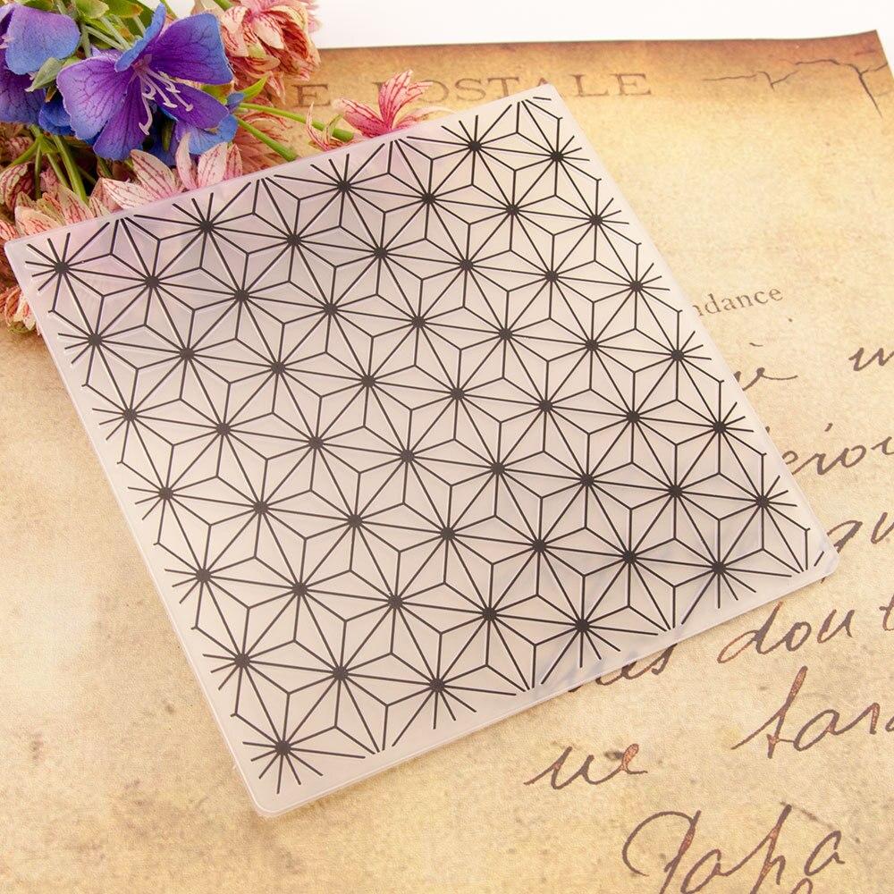 Fundo de diamante flor impressão diy pastas de gravação de plástico para diy scrapbooking papel artesanato/cartão que faz a decoração suprimentos
