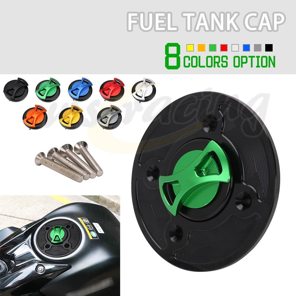 Motorcycle CNC Gas Tank Cap Cover For Kawasaki NINJA 650 Z650 VERSYS-X 300 Z900 NINJA400 ZX-6R KLX230/R 2017 2018 2019 2020