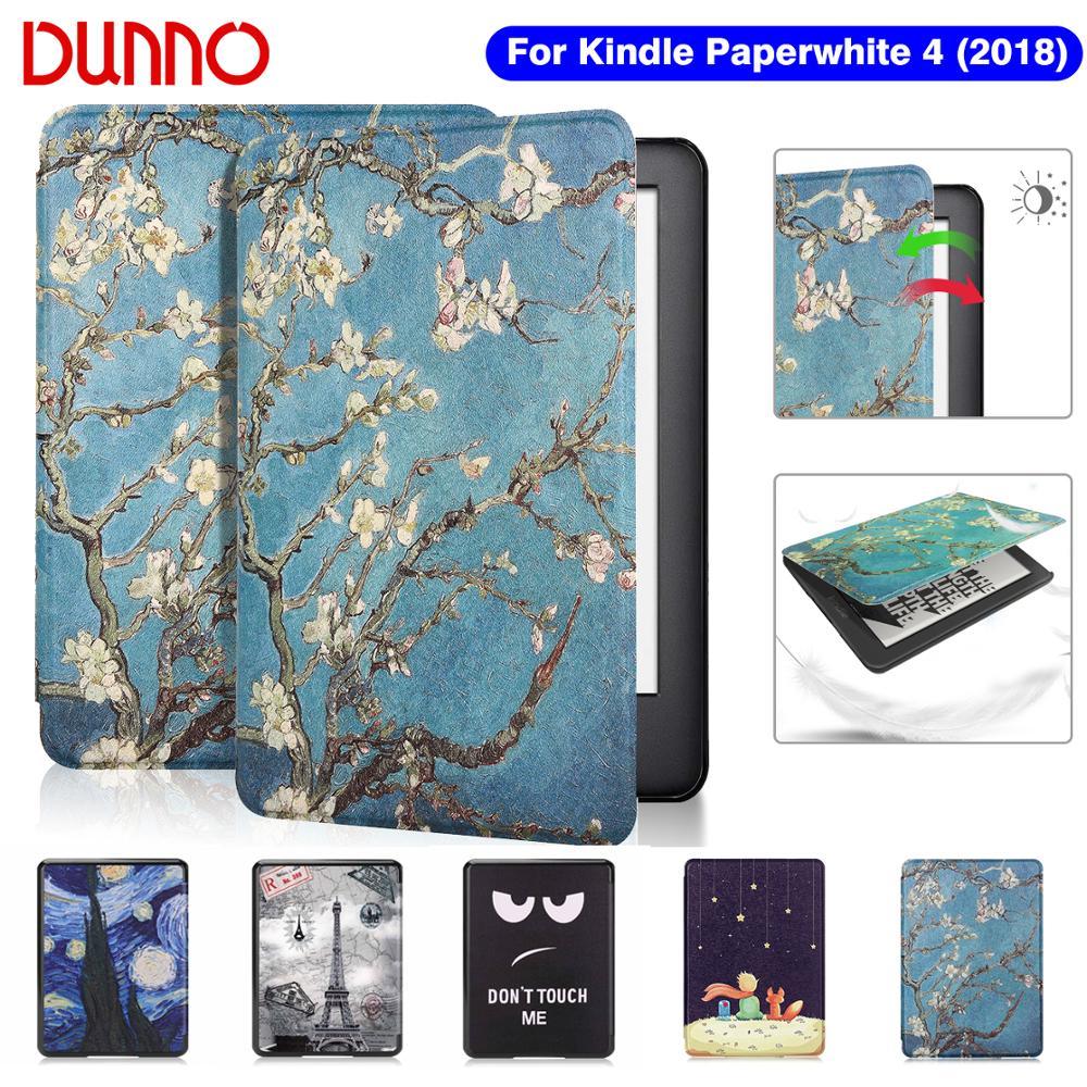2018 kindle Paperwhite 4 Case For Funda Amazon Kindle Paperwhite 10th Generation Cover Protective Shell Flip E-book Capa