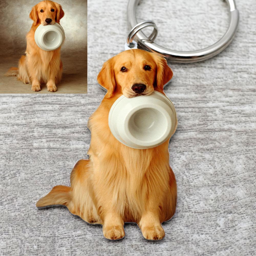 Пользовательские собаки брелок, пользовательские фото брелок, персонализированные собаки брелок кошка брелок животное фото брелок, подаро... брелок cromia брелок