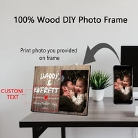 personality photo customized diy photo frame natural wood photo frame wall art large posters frame home decor best fathers gift