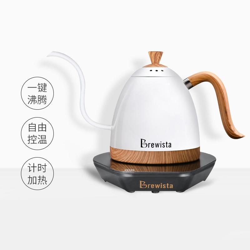 220VElectric القهوة وعاء غرامة الفم الشراب القهوة وعاء صب أكثر القهوة الشاي غلاية معقوفة وعاء 600 مللي