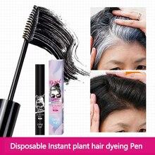 Ein-Zeit Farbstoff haar stick Haar Farbe Geändert Creme Kosmetische Abdeckung Ihre Grau Weiß Haar Touch Up Haar Farbe lippenstift Stift haar Salo
