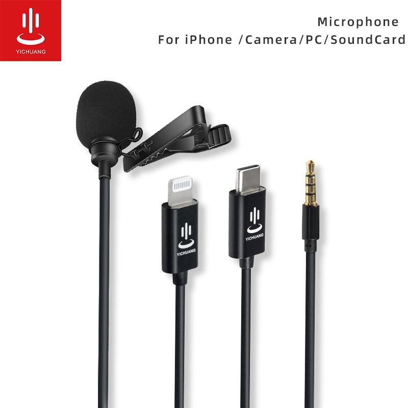 Mini micrófono para iPhone Lightning tipo C, 3,5mm, para Samsung, Huawei, Xiaomi,...