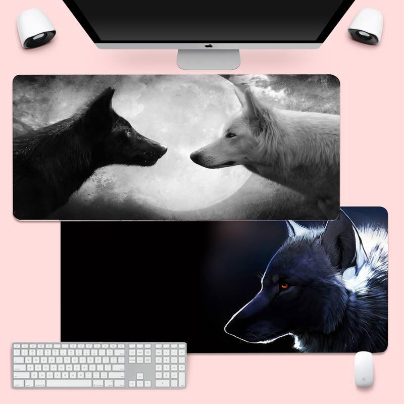 Кот Волк Лев большой Мышь PC компьютер коврик игровой Мышь коврик XL большая клавиатура PC стол коврик Takuo анти-скольжения Удобная подкладка