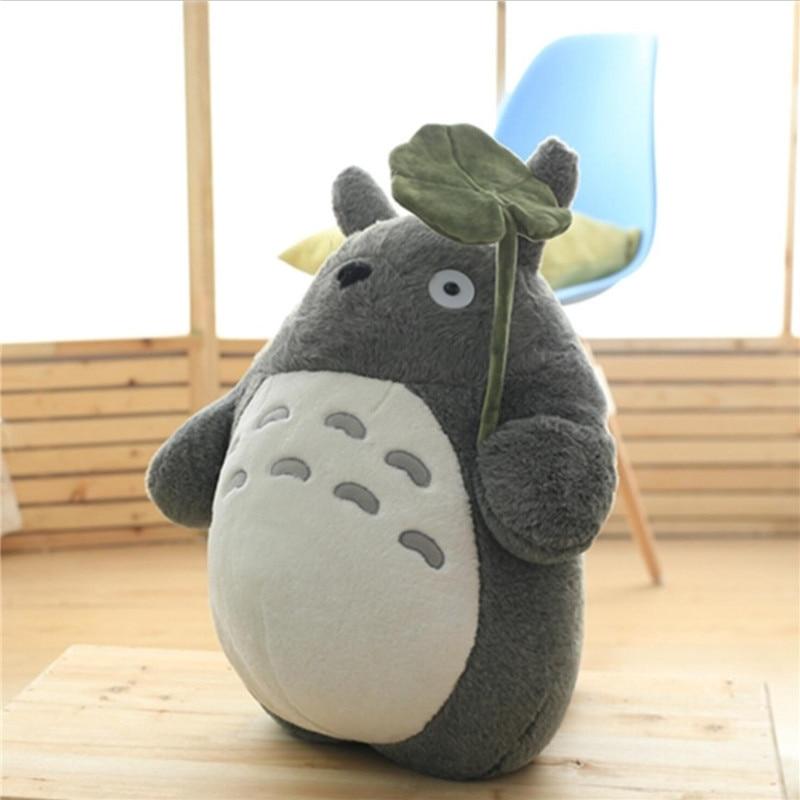 Boneca de pelúcia totoro 27-75cm, brinquedo de pelúcia fofo para crianças, 1 peça decoração de sofá de brinquedos para meninas