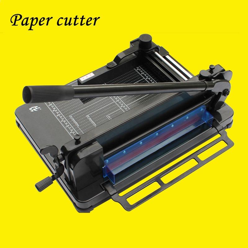 A4 cortador de papel grosso resistente do cortador de papel da camada de energia mecânica e elétrica cortador de papel manual de faca pequena grossa