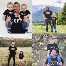Père et fils chemises assorties papa et fils chemises papa et fille T-shirts fête des pères cadeau Dady et bébé Mini vêtements