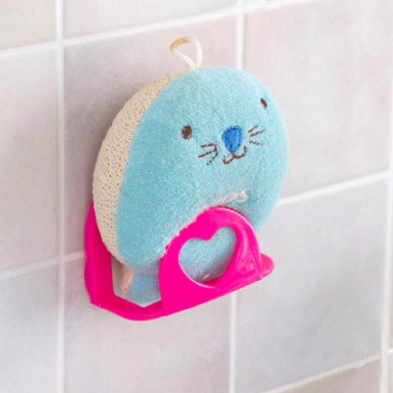 Ventosa para esponja de baño, estante para baño, soporte para toalla, plato de soporte para jabón, fregadero de cocina, accesorios de almacenamiento para esponja