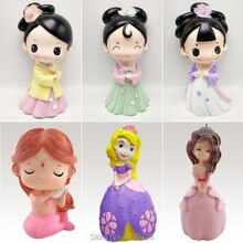 3D anime princess Hanfu girls silicone mold for plaster DIY gypsum figurine mould concrete pottery clay molds Christmas decor