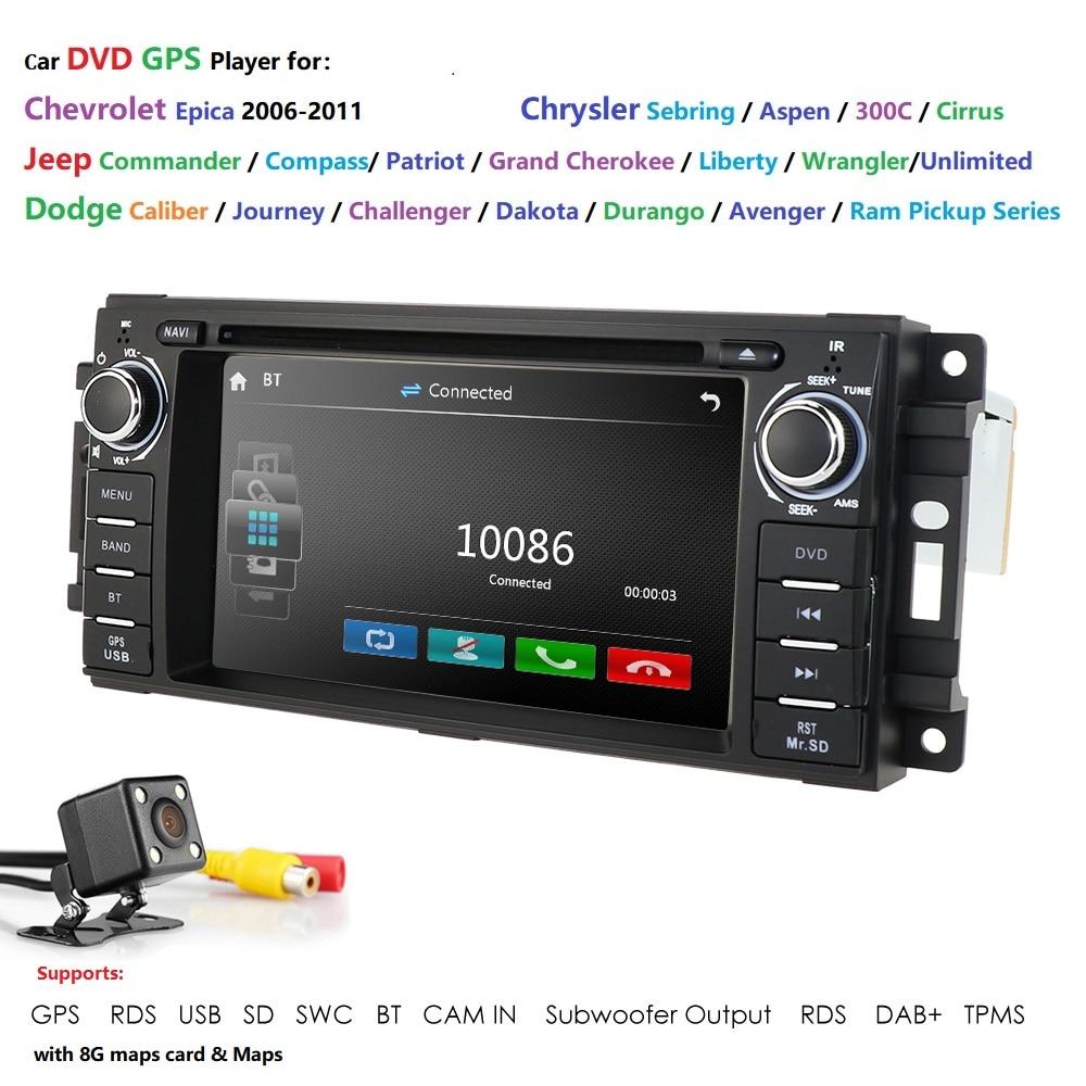 Hizpo de 6,2 pulgadas HD Unidad Radio estéreo con navegación GPS reproductor de DVD de coche para JEEP Patriot/brújula/DODGE Journey/Chrysler Sebring BT